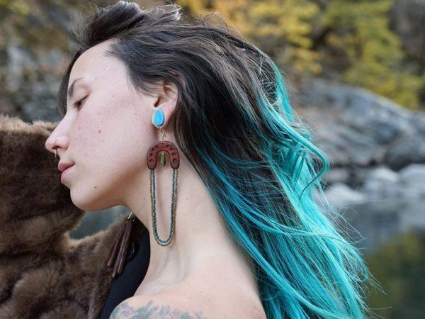 Chyna Shine from TatianaAshna.com handmade wood earrings