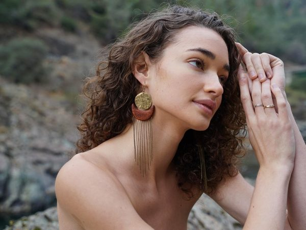 This unique earring from TatianaAshna exudes native-American influence