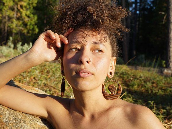 Stunning handmade wood earrings for Powerful women. Made in the Sierra Nevada Foothills.