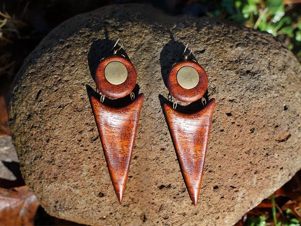 Handmade wood earrings collection especially for women of color by TatianaAshna