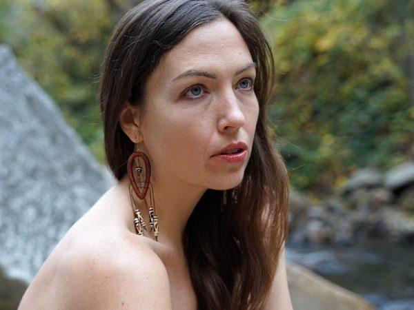 Gifted handmade earring designer TatianaAshna entitles this earring 'Ezra'